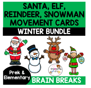 Occupational Therapy Christmas Activity: Movement cards