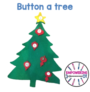 Occupational Therapy Christmas Activity: Button a tree
