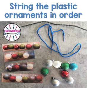 Occupational Therapy Christmas Activity: String the ornaments
