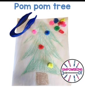 Occupational Therapy Christmas Activity: Pom pom tree