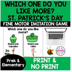 St Patrick's Day Occupational Therapy Game