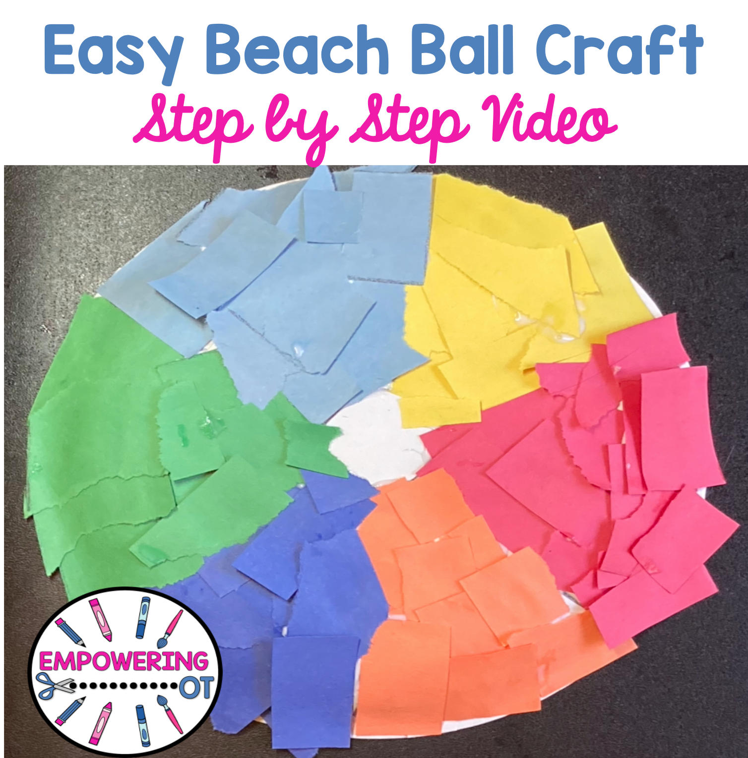 Easy beach ball craft occupational therapy