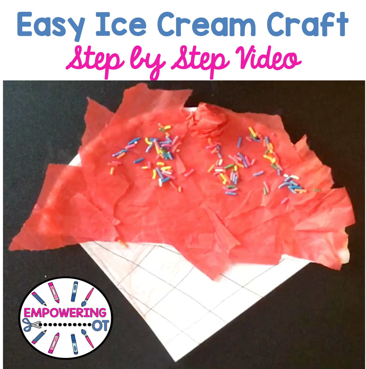 Easy Ice Cream Occupational Therapy Craft