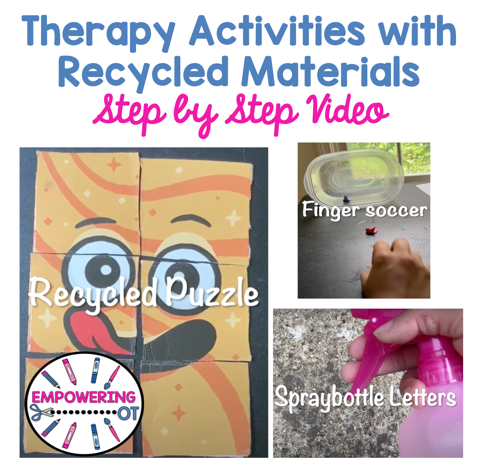 Occupational therapy activities minimal materials